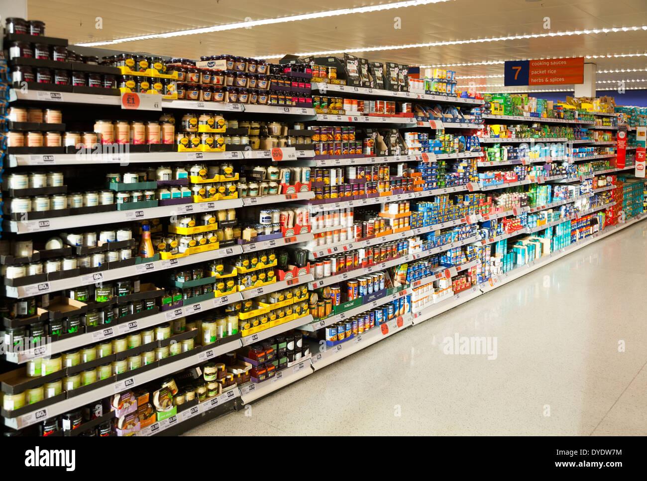 sainsbury's sainsburys aisle / aisles in a UK store / shop ...