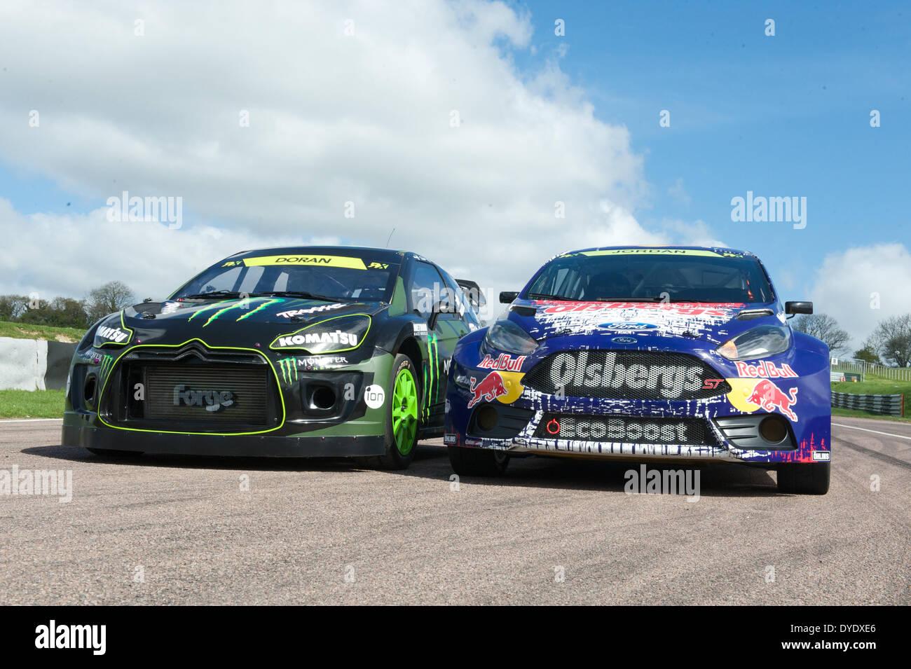 Monster Energy Sponsored Citroen And Ford Fiesta St Wrx Cars Stock