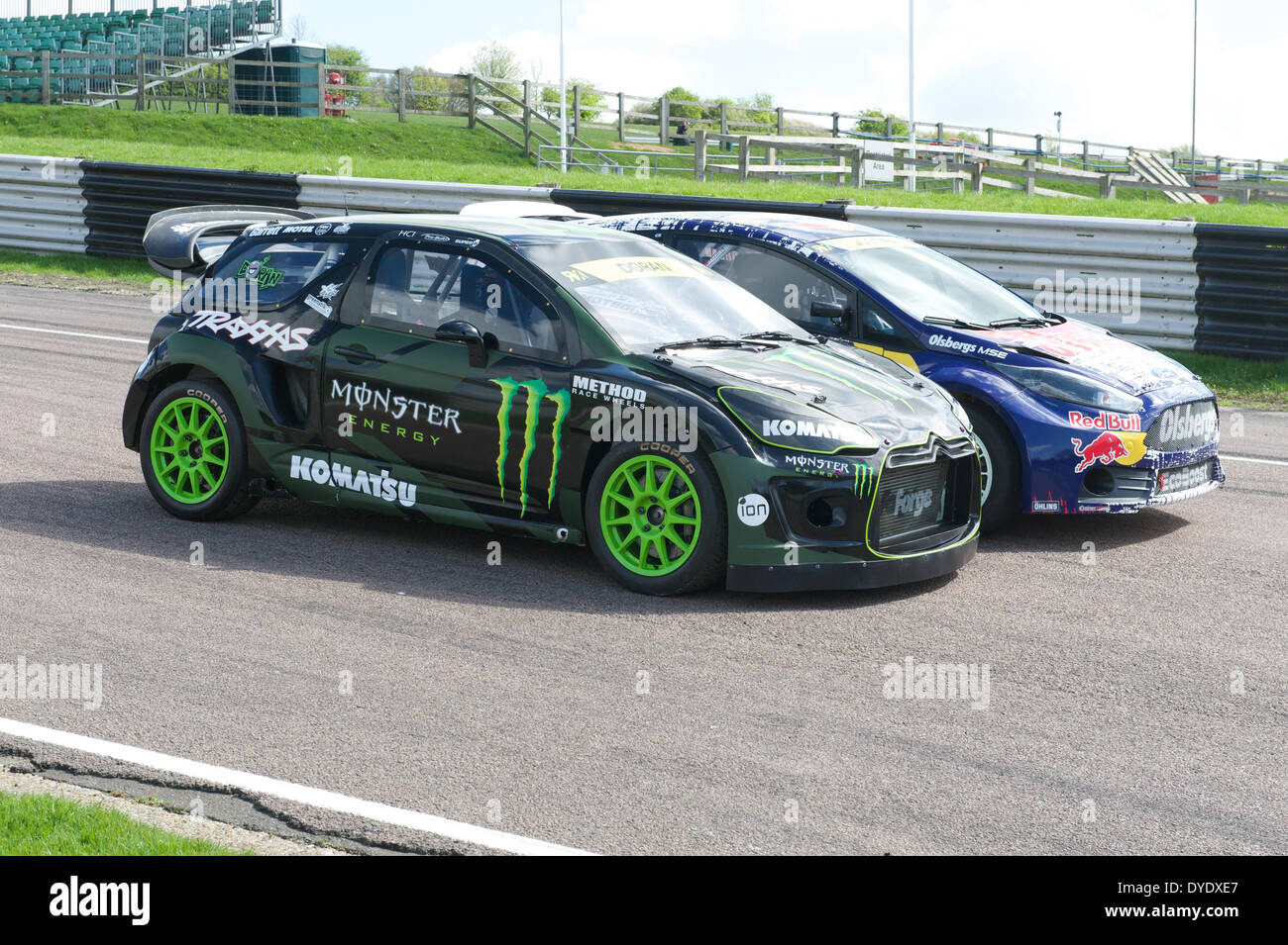 Monster Energy Sponsored Citroen And Ford Fiesta St Wrx Cars Stock