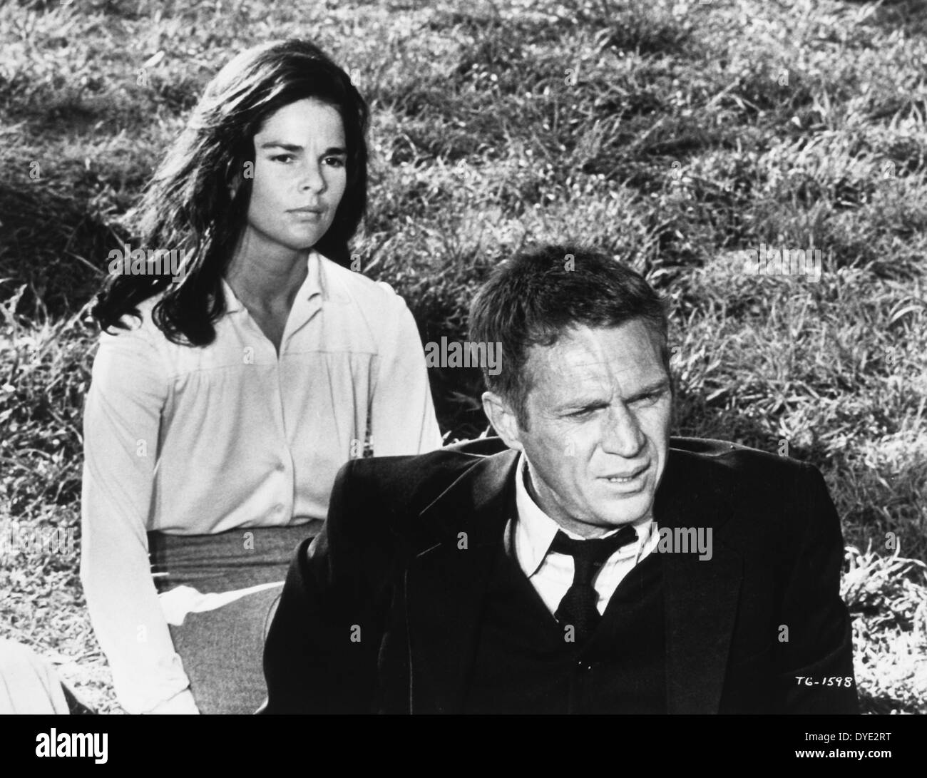 """Ali MacGraw and Steve McQueen, on-set of the Film, """"The ...  Ali Macgraw And Steve Mcqueen"""