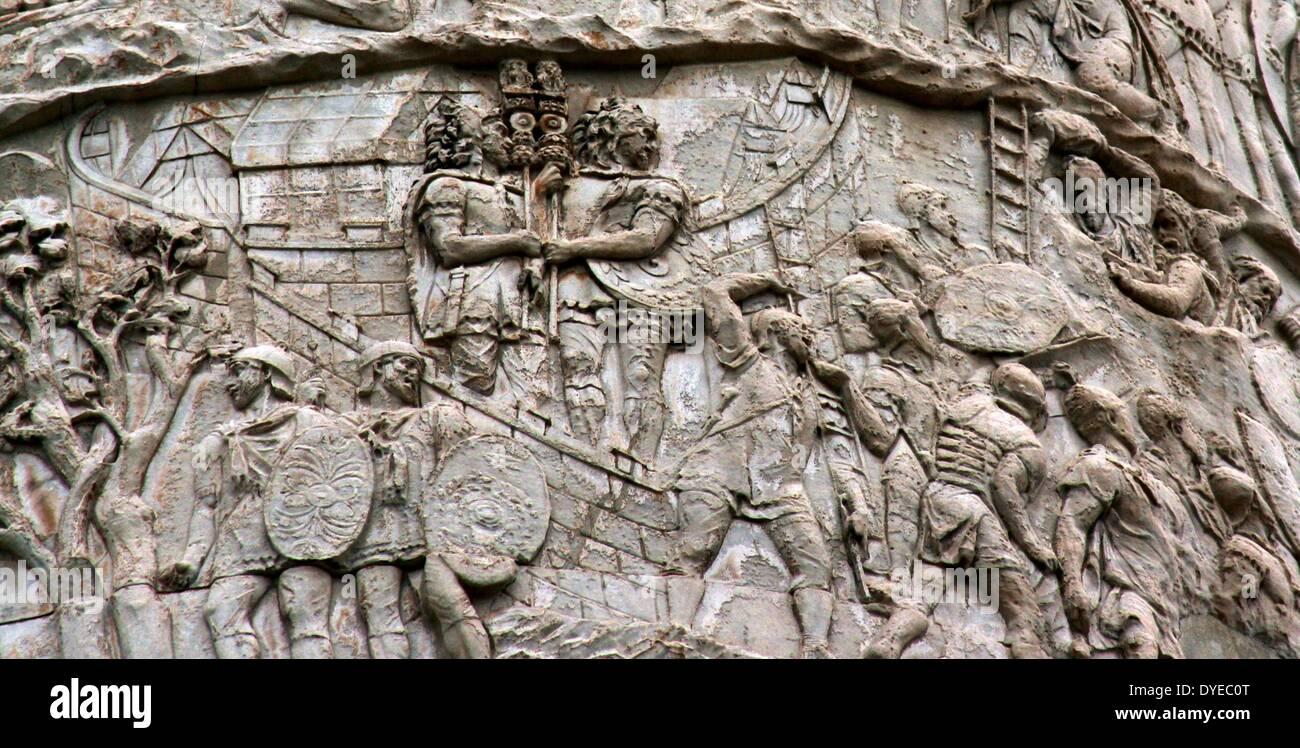 trajans column Trajan, latin in full caesar divi nervae filius nerva traianus optimus augustus,  also called (97–98 ce) caesar nerva traianus germanicus, original name.