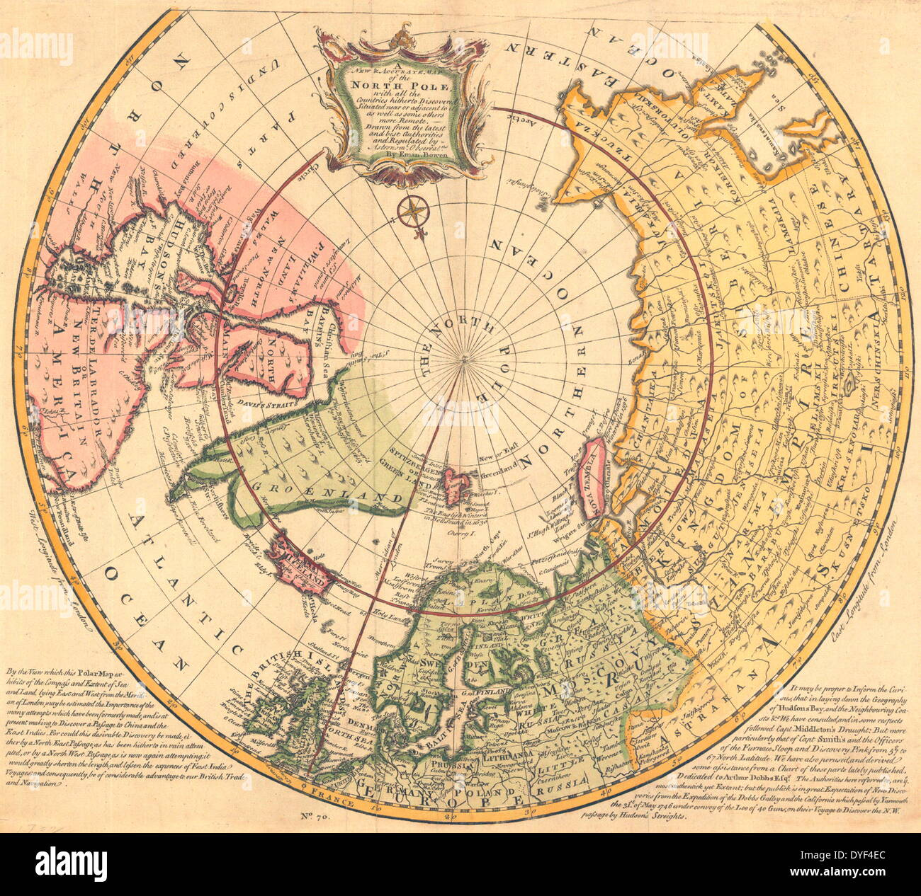 New accurate map of the north pole 1747 stock photo royalty new accurate map of the north pole 1747 sciox Choice Image