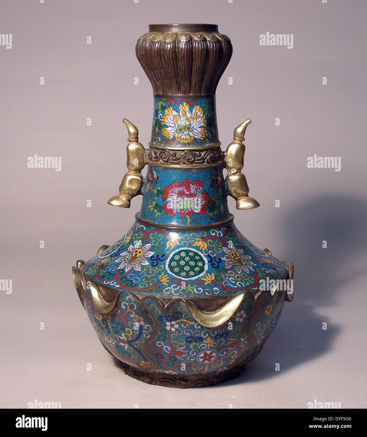 Ancient china water lily vase with two handles ming dynasty ancient china water lily vase with two handles ming dynasty jingtai period 1450 1456 ad gilt cloisonne enamel and reviewsmspy
