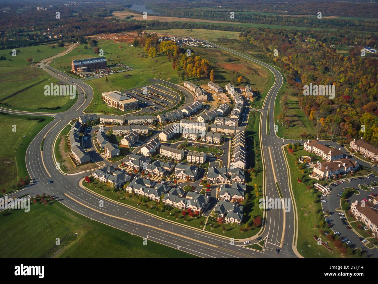 LOUDOUN COUNTY VIRGINIA USA Aerial Of Housing Development Next - Usa virginia