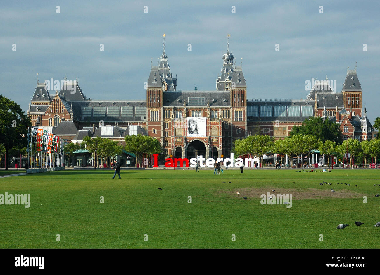 Located At The Back Of The Rijksmuseum On Museumplein The Large I - Where is amsterdam located