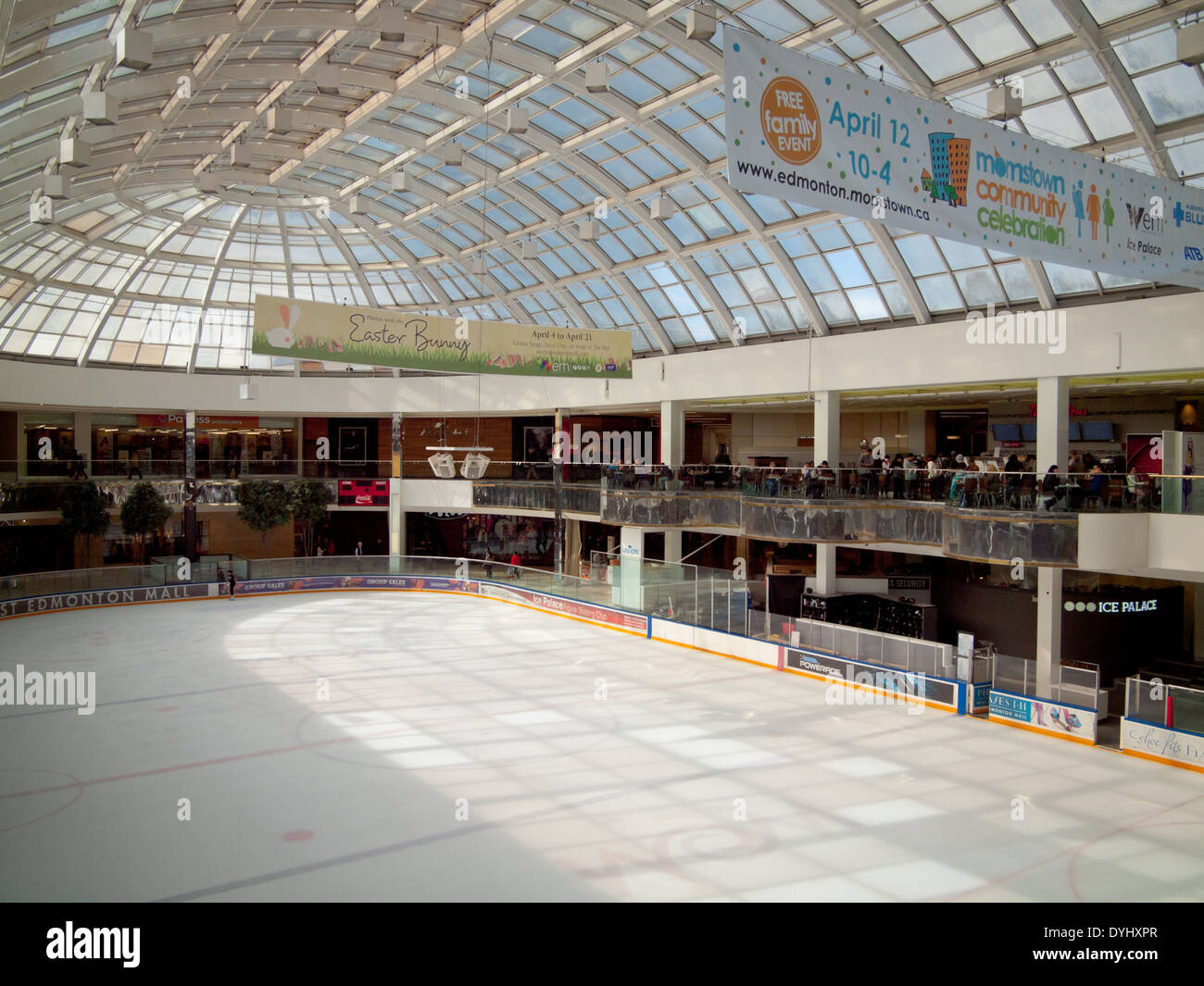 Roller skating rink jakarta - A View Of The Ice Palace Skating Rink At West Edmonton Mall In Edmonton Alberta