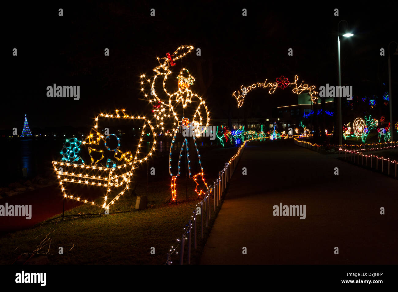 Christmas Lights And Displays At Moody Gardens In