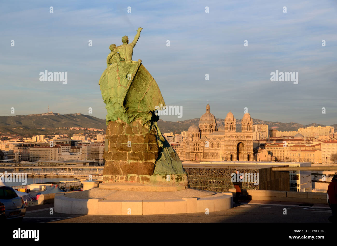 Sailors monument in pharo park at entrance to the vieux - Parking marseille vieux port ...