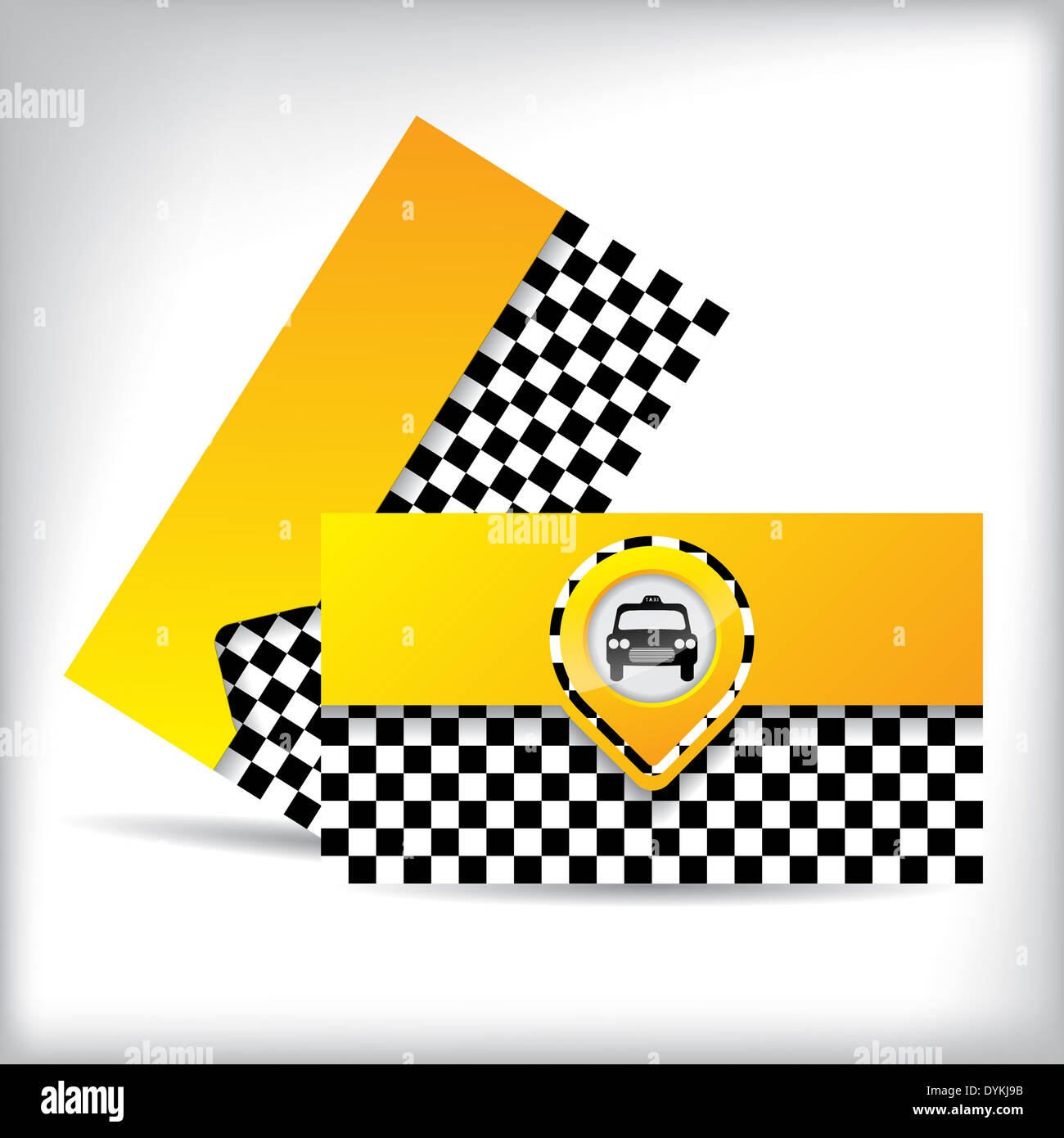 Business card design with car symbol for taxi companies and ...
