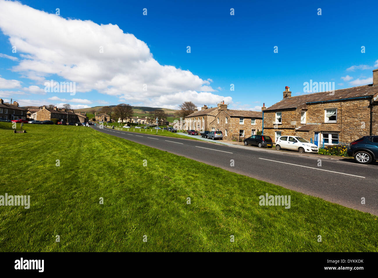 Bainbridge Village Yorkshire Dales National Park UK England GB Road Homes Houses