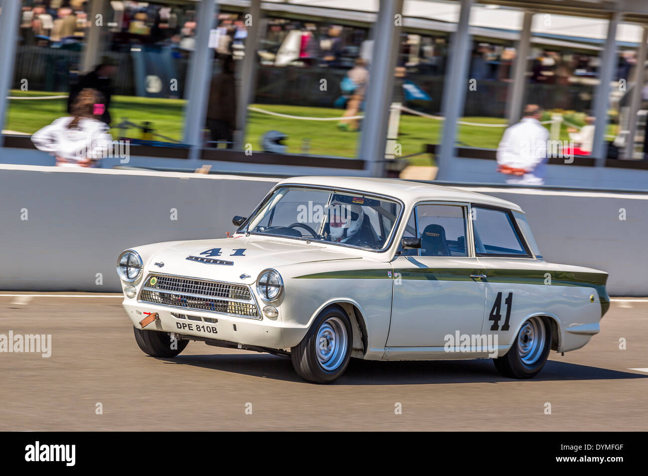 1964 ford lotus cortina mk1 with driver neil brown sears trophy race 72nd