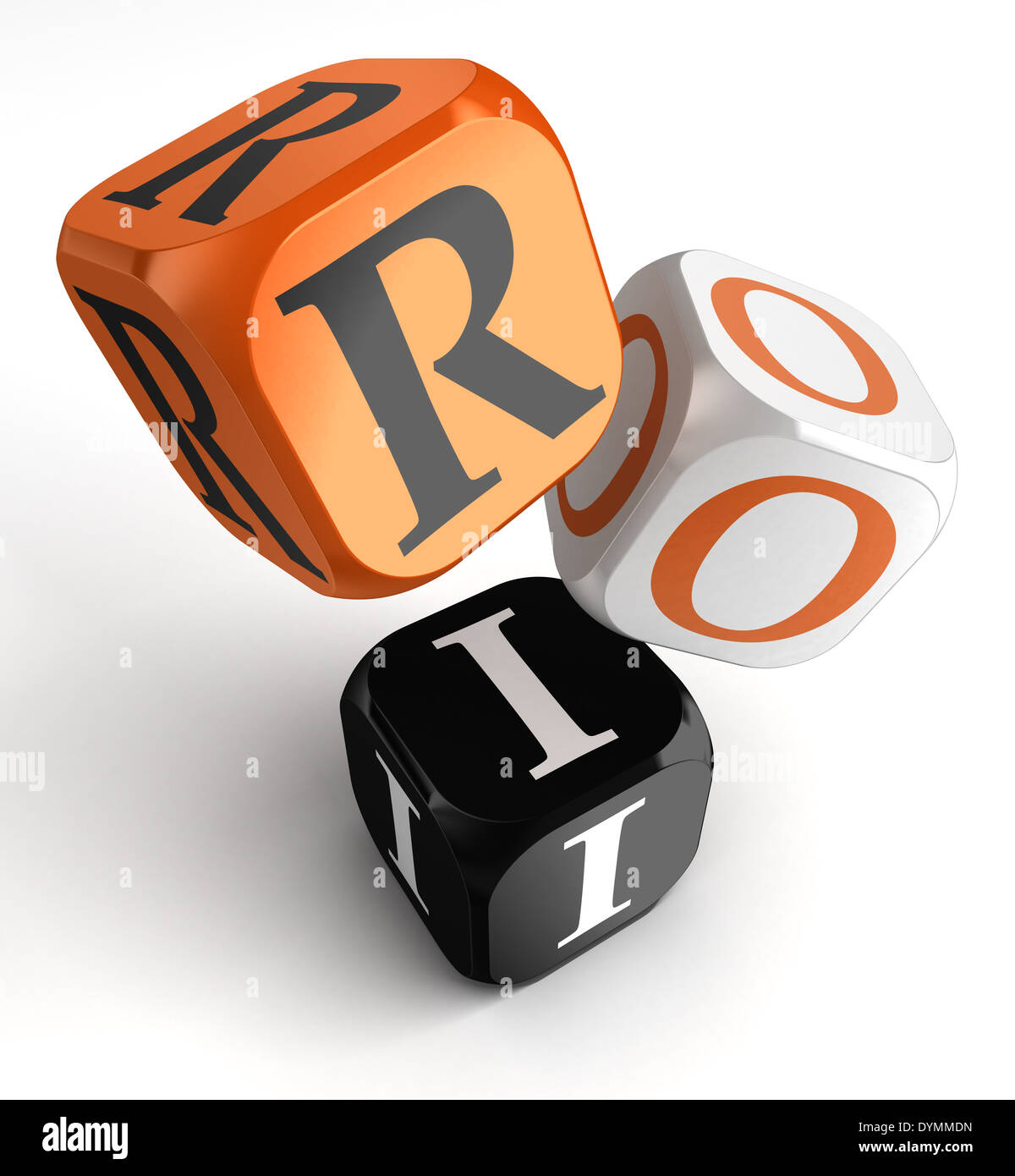 Background image mdn - Stock Photo Return On Investment Orange Black Dice Blocks On White Background Clipping Path Included