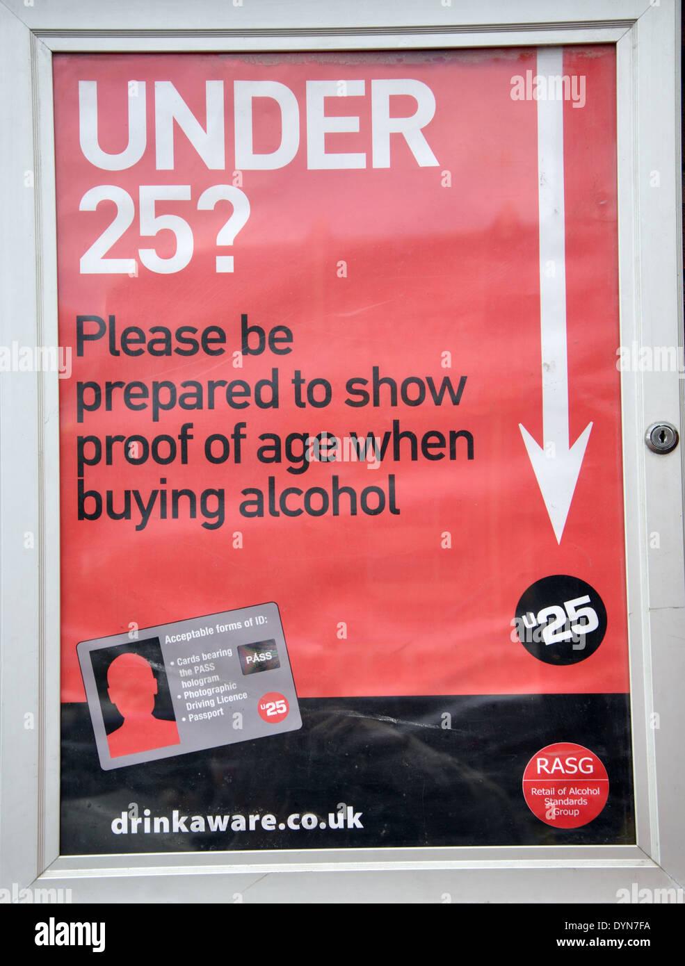 Under Age Limit Notice Outside British Pub Britain UK Stock - Alcohol age limit