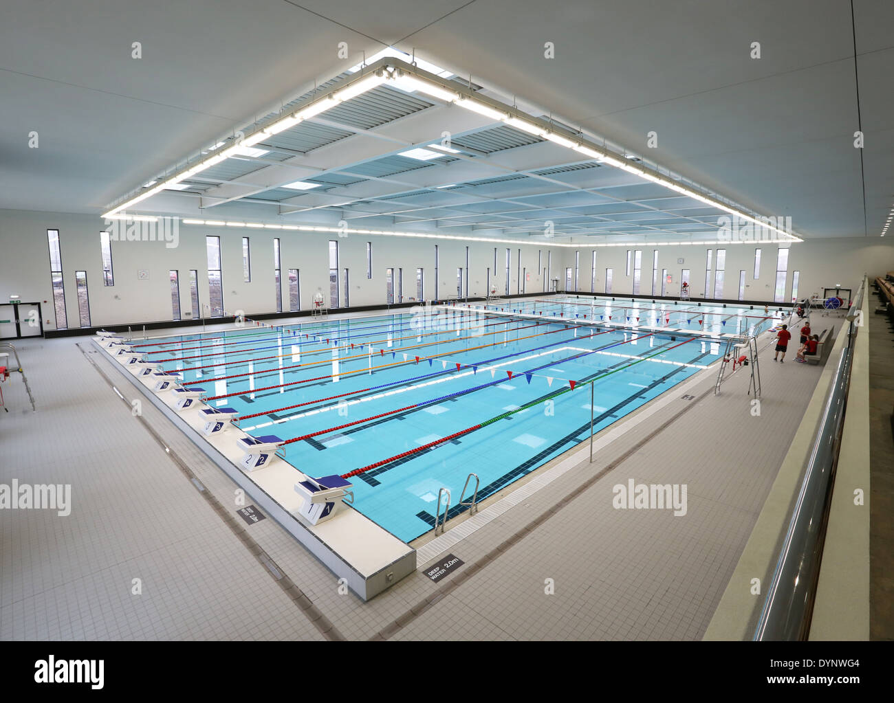 The 50 Metre Swimming Pool At Aberdeen Aquatic Centre At Aberdeen Stock Photo Royalty Free