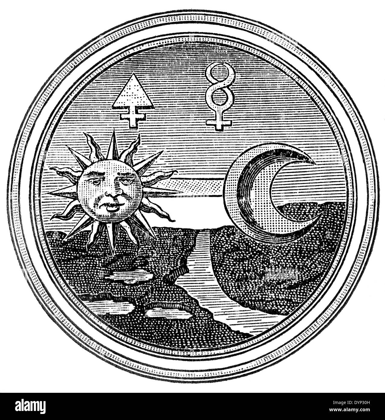 Alchemy symbols of sulphur and mercury illustration from soviet alchemy symbols of sulphur and mercury illustration from soviet encyclopedia 1926 biocorpaavc Image collections