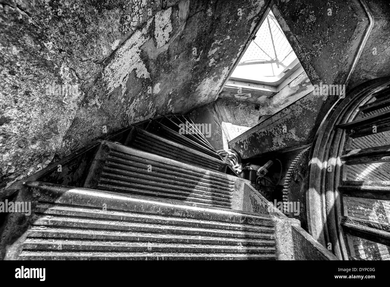 Old Cast Iron Staircase At Söderskär Lighthouse, Porvoo, Finland, EU