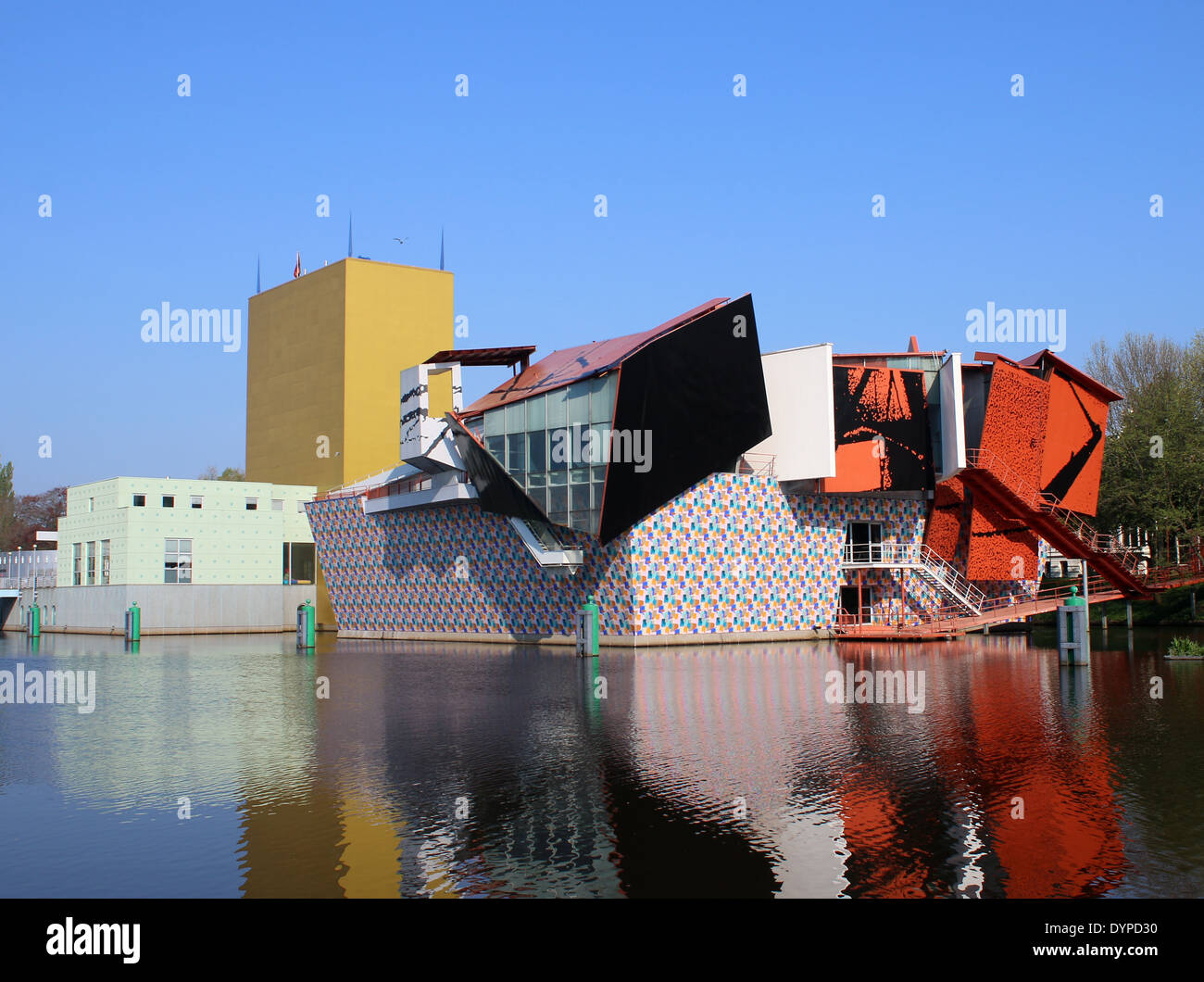 groninger museum the modernist contemporary art museum in groningen stock photo royalty free. Black Bedroom Furniture Sets. Home Design Ideas
