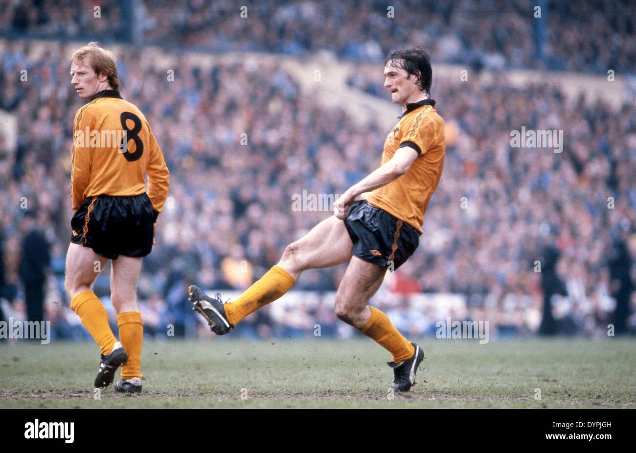 Footballer Kenny Hibbitt and Willie Carr of Wolverhampton