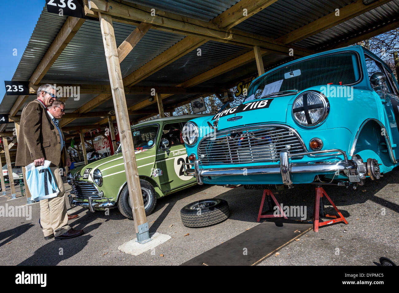 Morris and austin mini cooper s cars in the paddock garage for Garage mini cooper annemasse