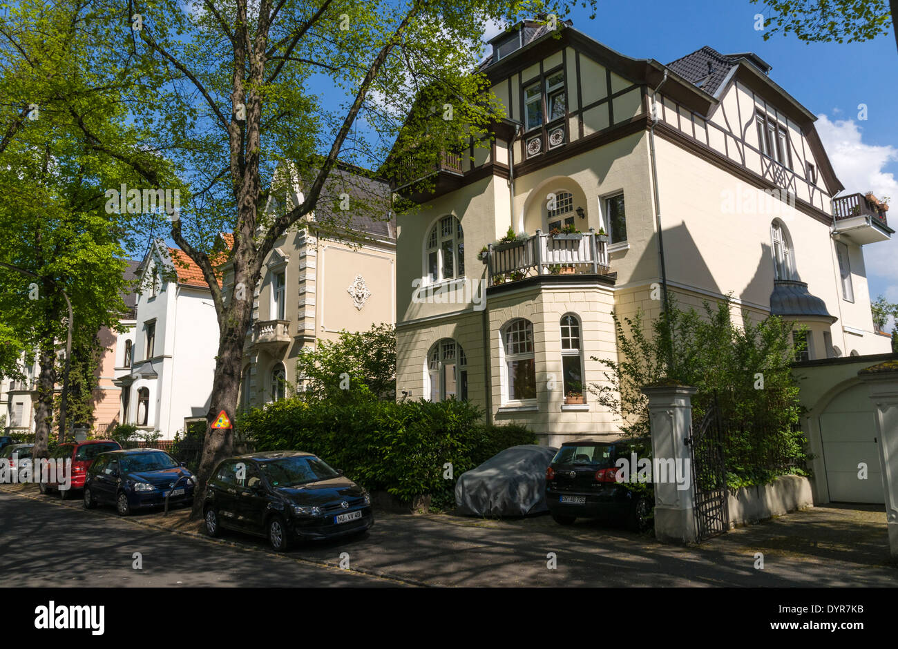 early 20th c houses in the villa district of bonn bad godesberg stock photo royalty free. Black Bedroom Furniture Sets. Home Design Ideas