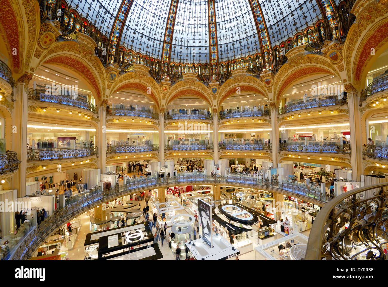 Préférence Galeries Lafayette, shopping mall, Paris, France Stock Photo  SJ14