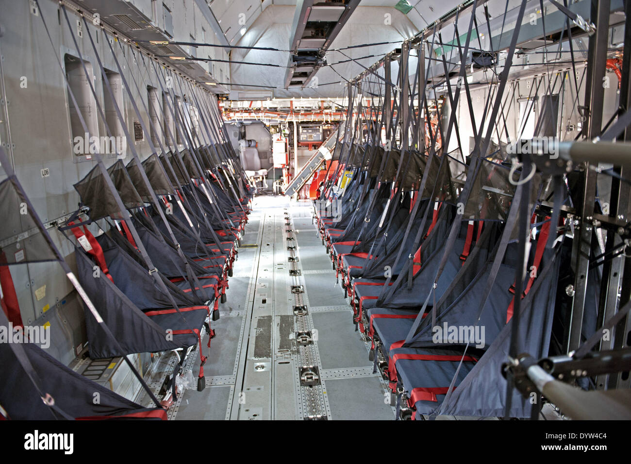 Military transport aircraft interior