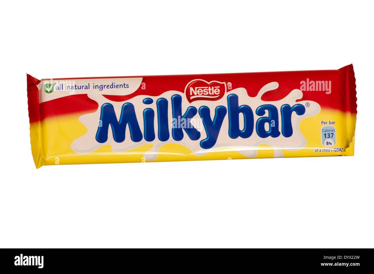Nestle Milky Bar Chocolate Stock Photo, Royalty Free Image ...