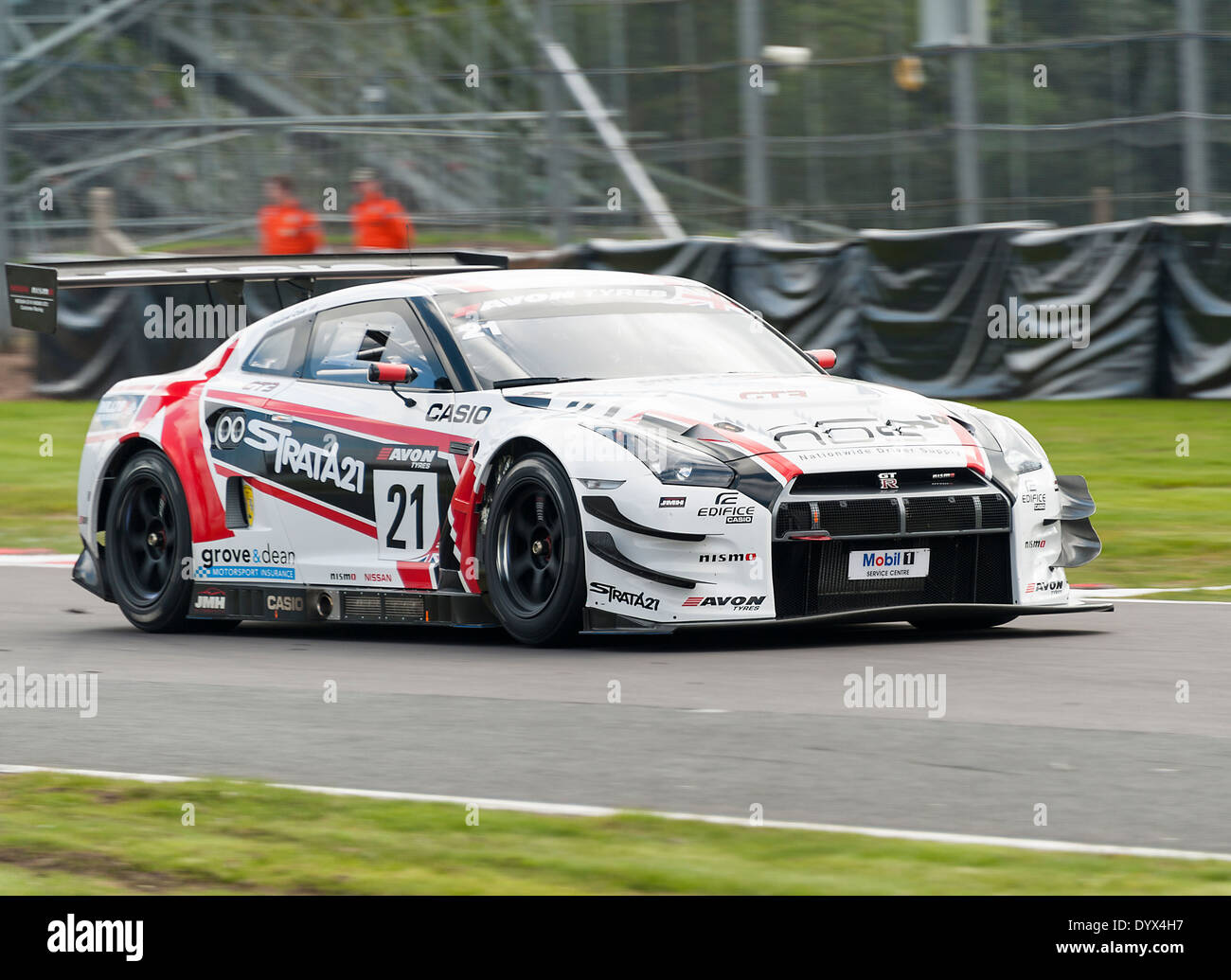 Nissan Gt R Gt3 Sports Racing Car In The British Gt