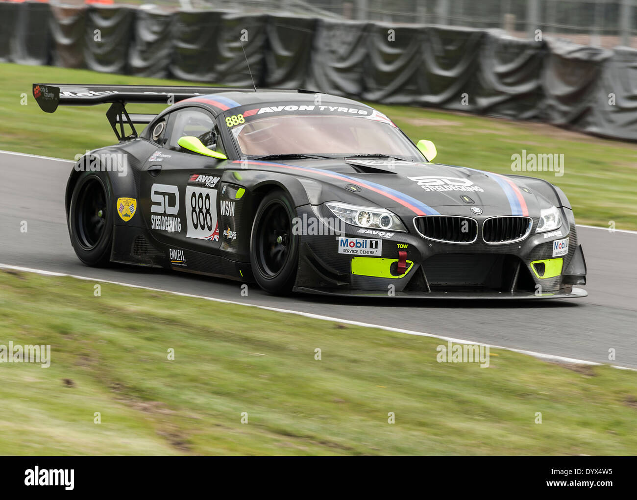 bmw z4 gt3 sports car in the british gt championship at oulton park stock photo royalty free. Black Bedroom Furniture Sets. Home Design Ideas