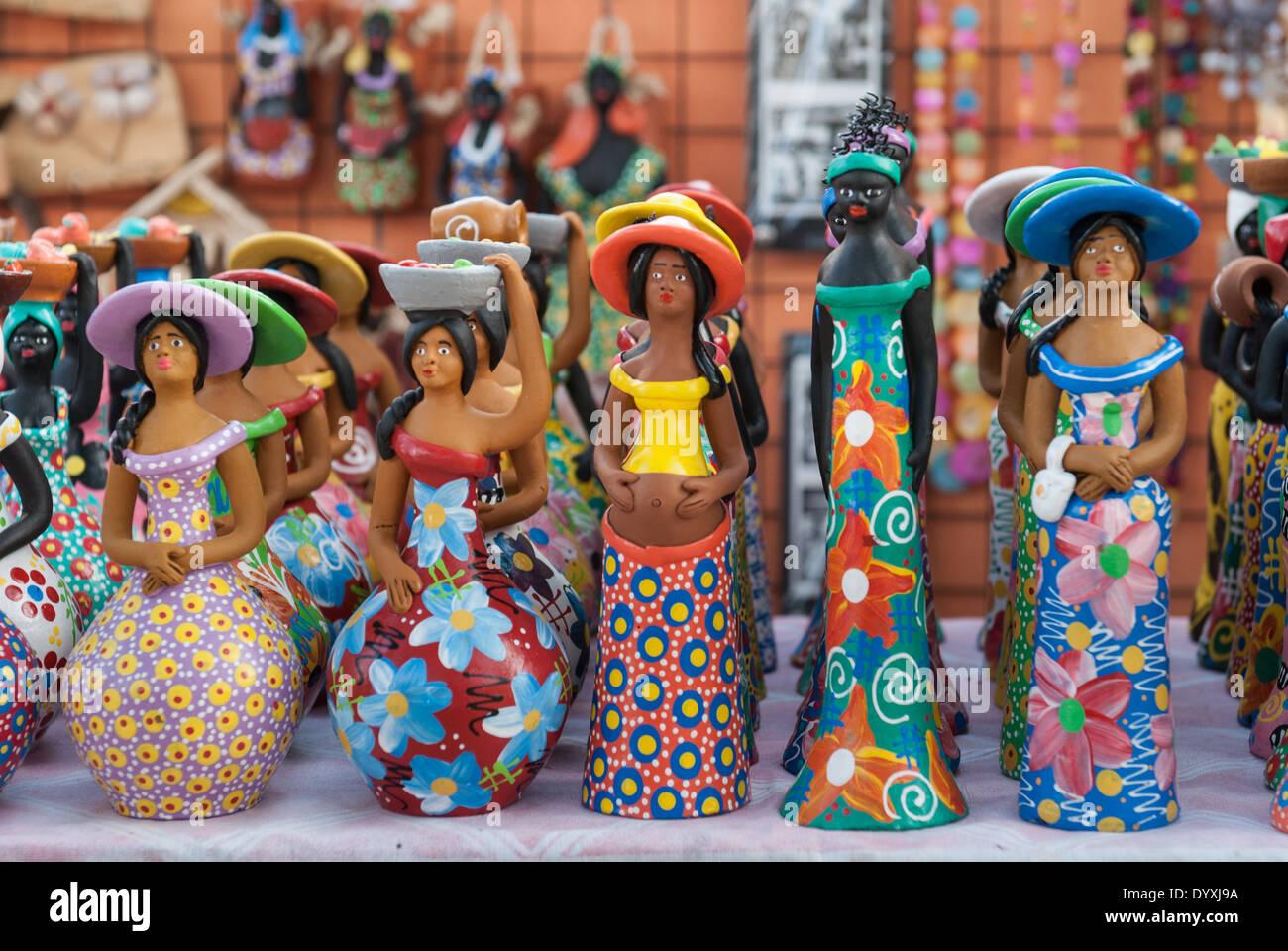 Armario Quarto Madeira Maciça ~ Olinda, Pernambuco State, Brazil Tourist souvenir colourful Stock Photo, Royalty Free Image