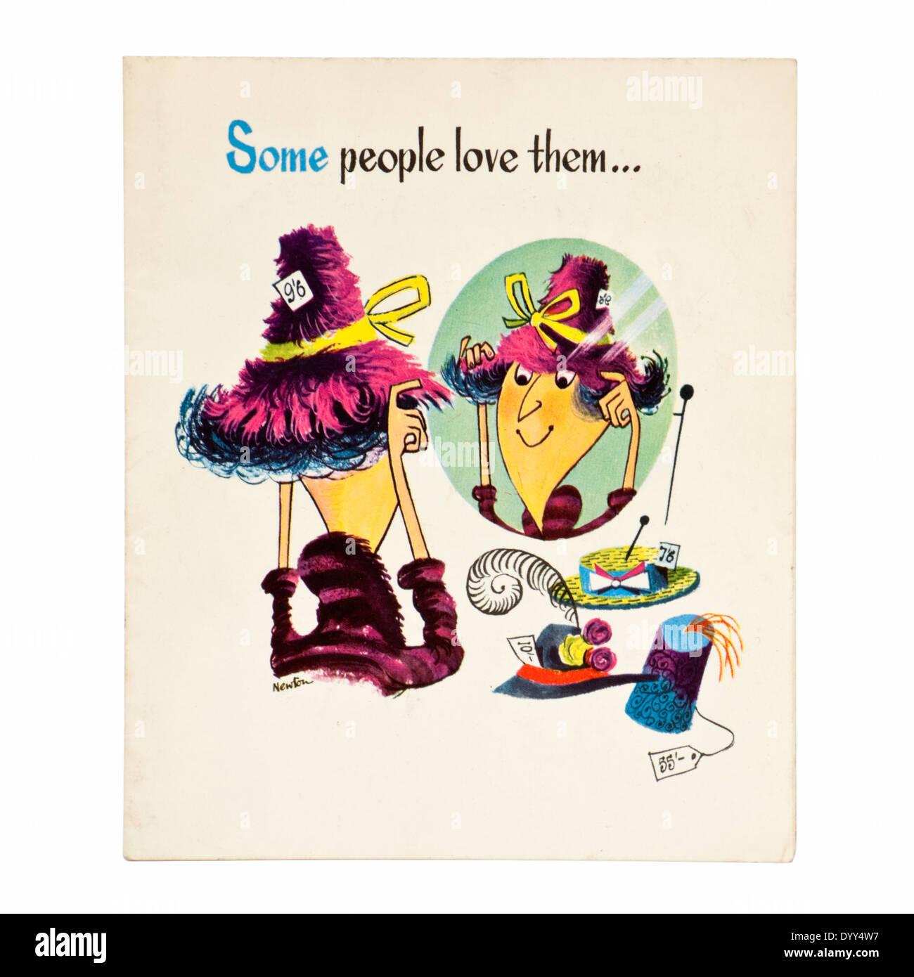 "vintage birthday card, illustrated by an artist named ""newton, Birthday card"