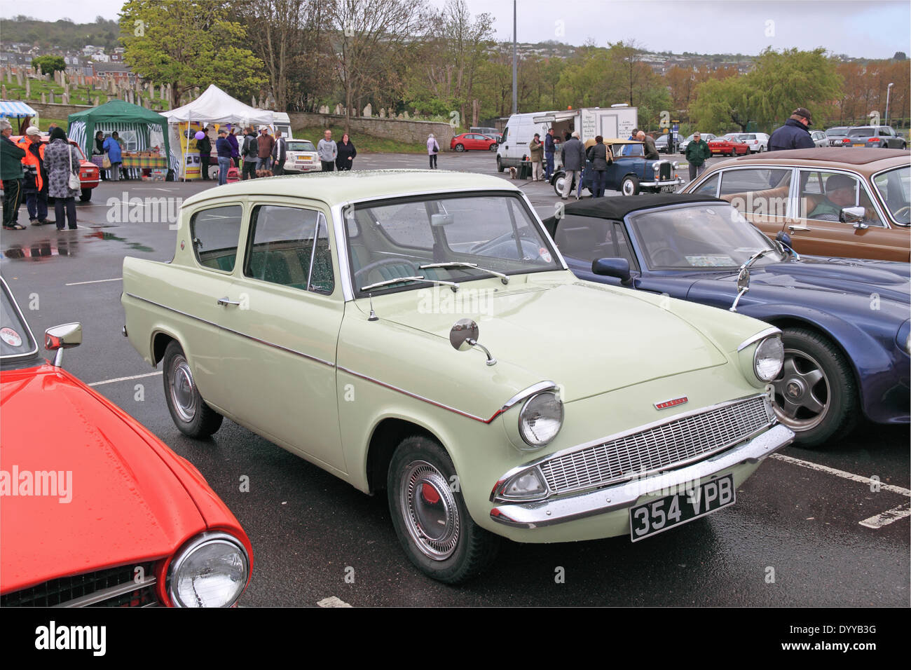 1961 ford anglia 105e swanage classic car display sunday 27th april 2014 event