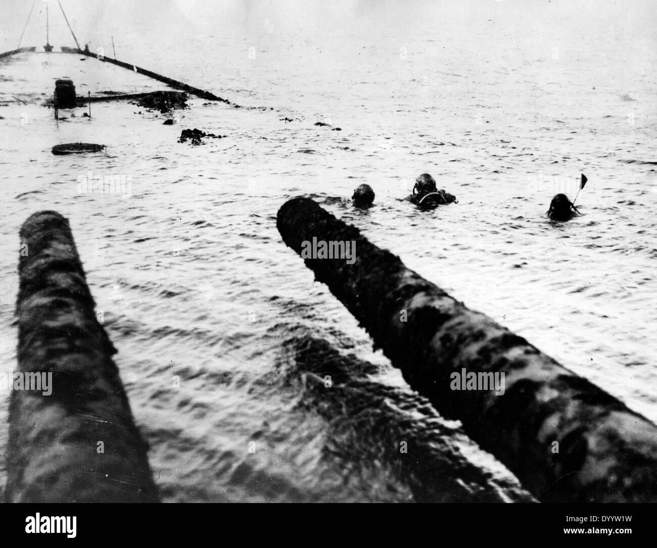 Raising of the SMS Hindenburg in Scapa Flow, 1930 Stock ... Raising Arizona