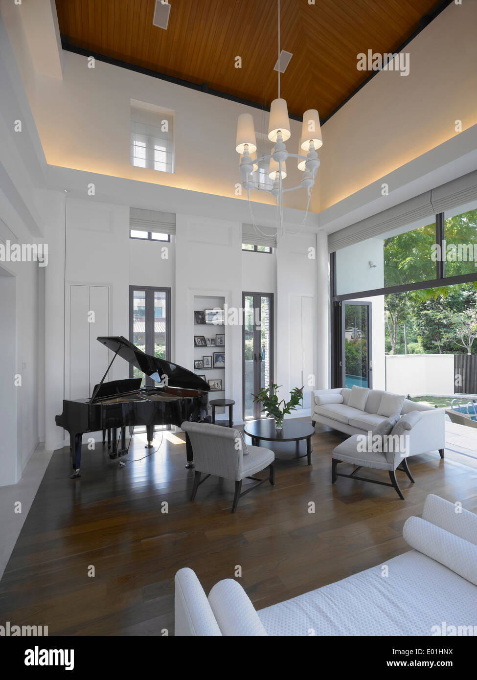 Grand piano in living room of private residence singapore for Grand piano in living room