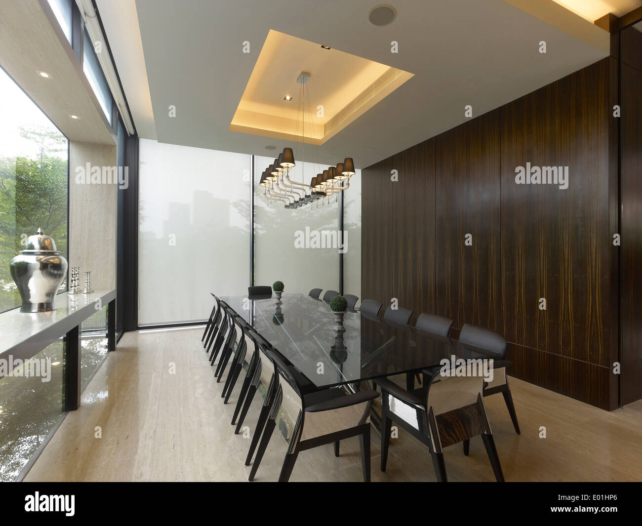 Dining Room In Private Residence Singapore Stock Photo