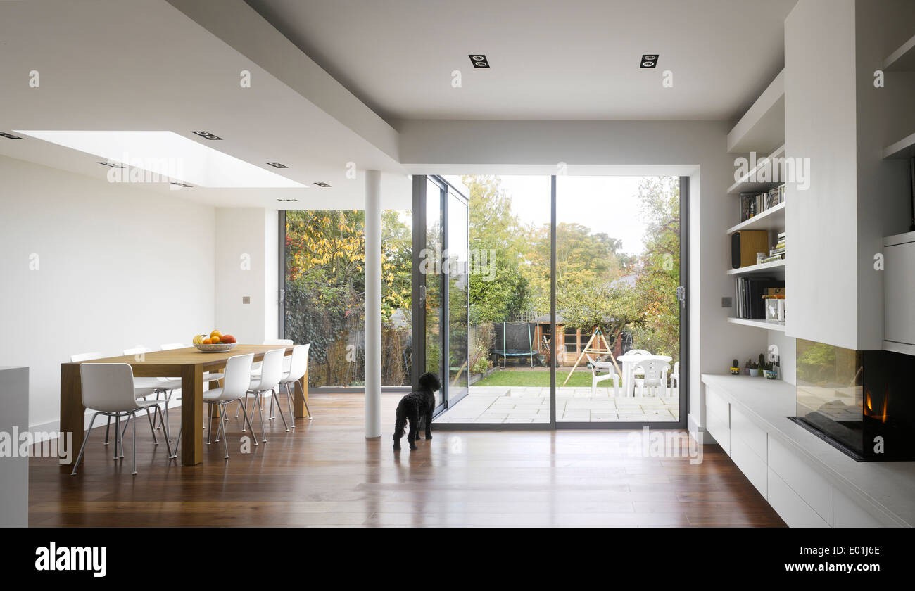 Extension Kitchen Kitchen Extension Of London Home Crouch End London Uk Stock