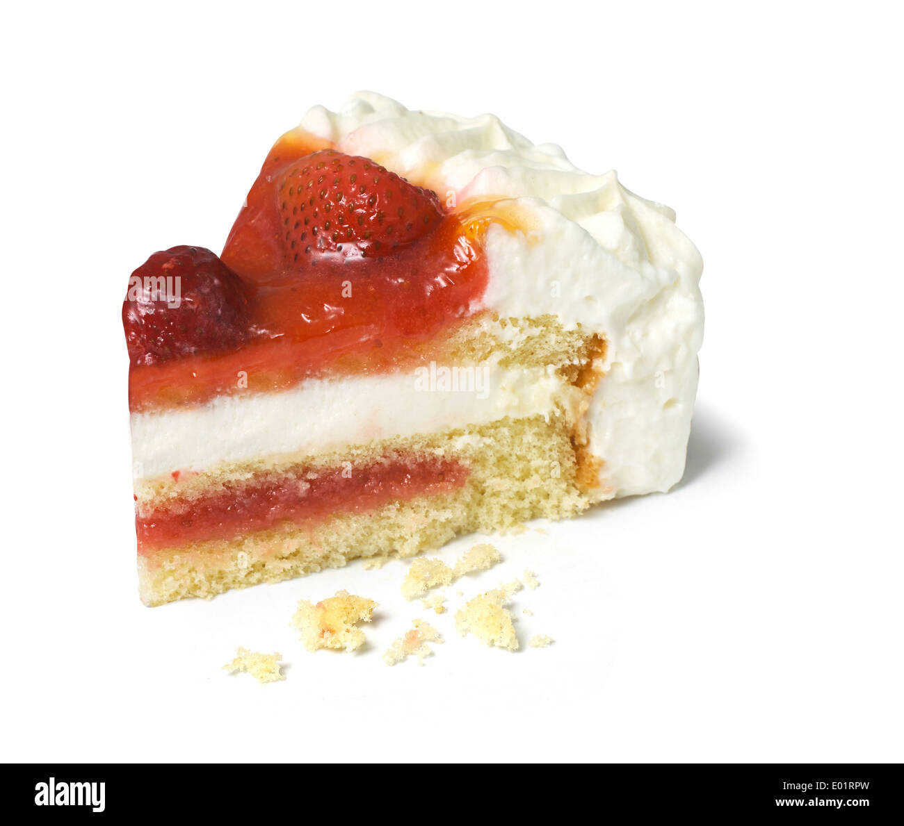 Slice Of Strawberry Gateau