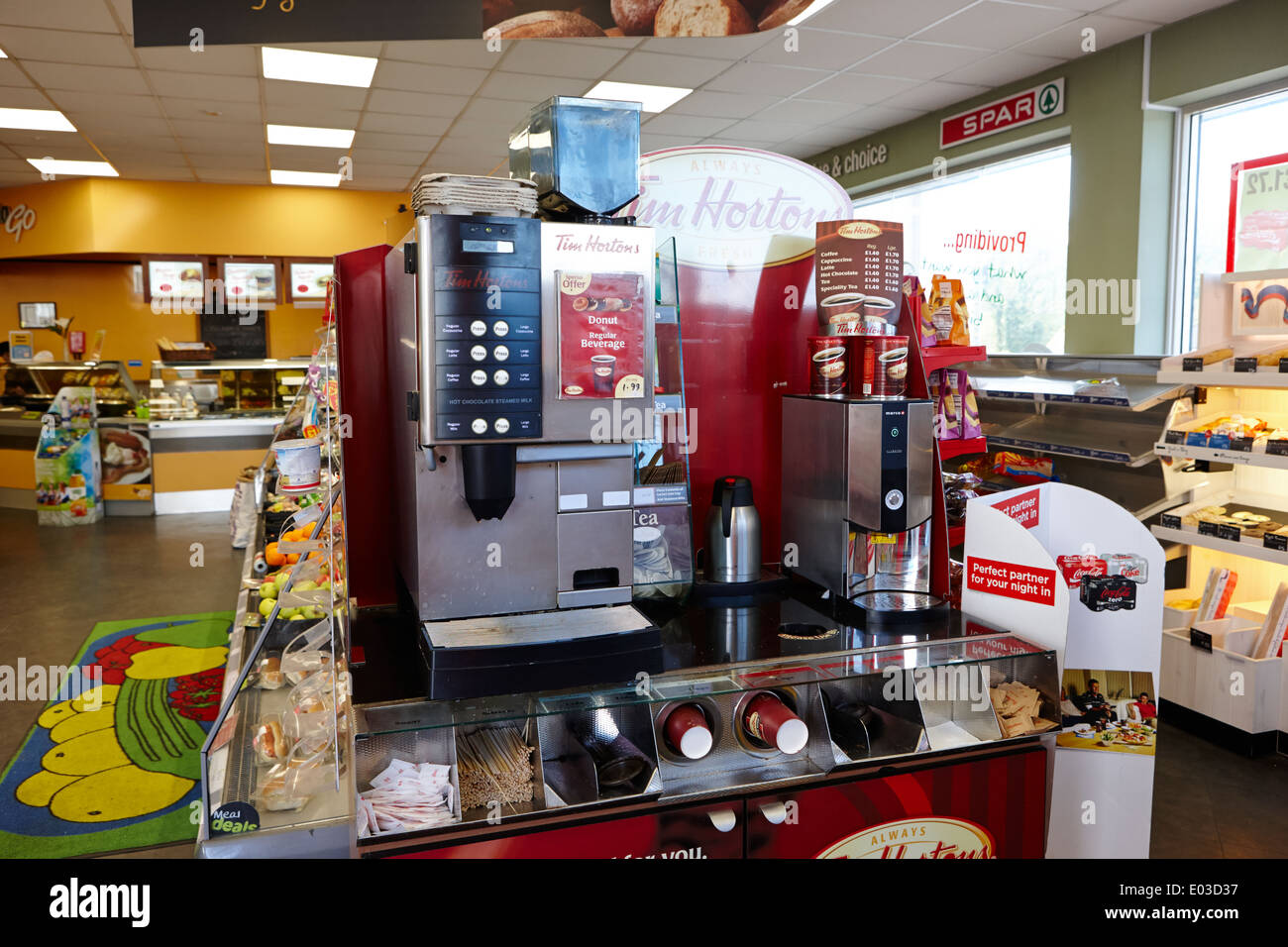 Tim Hortons Coffee Maker Manual : tim hortons coffee machine in a filling station convenience store in Stock Photo, Royalty Free ...