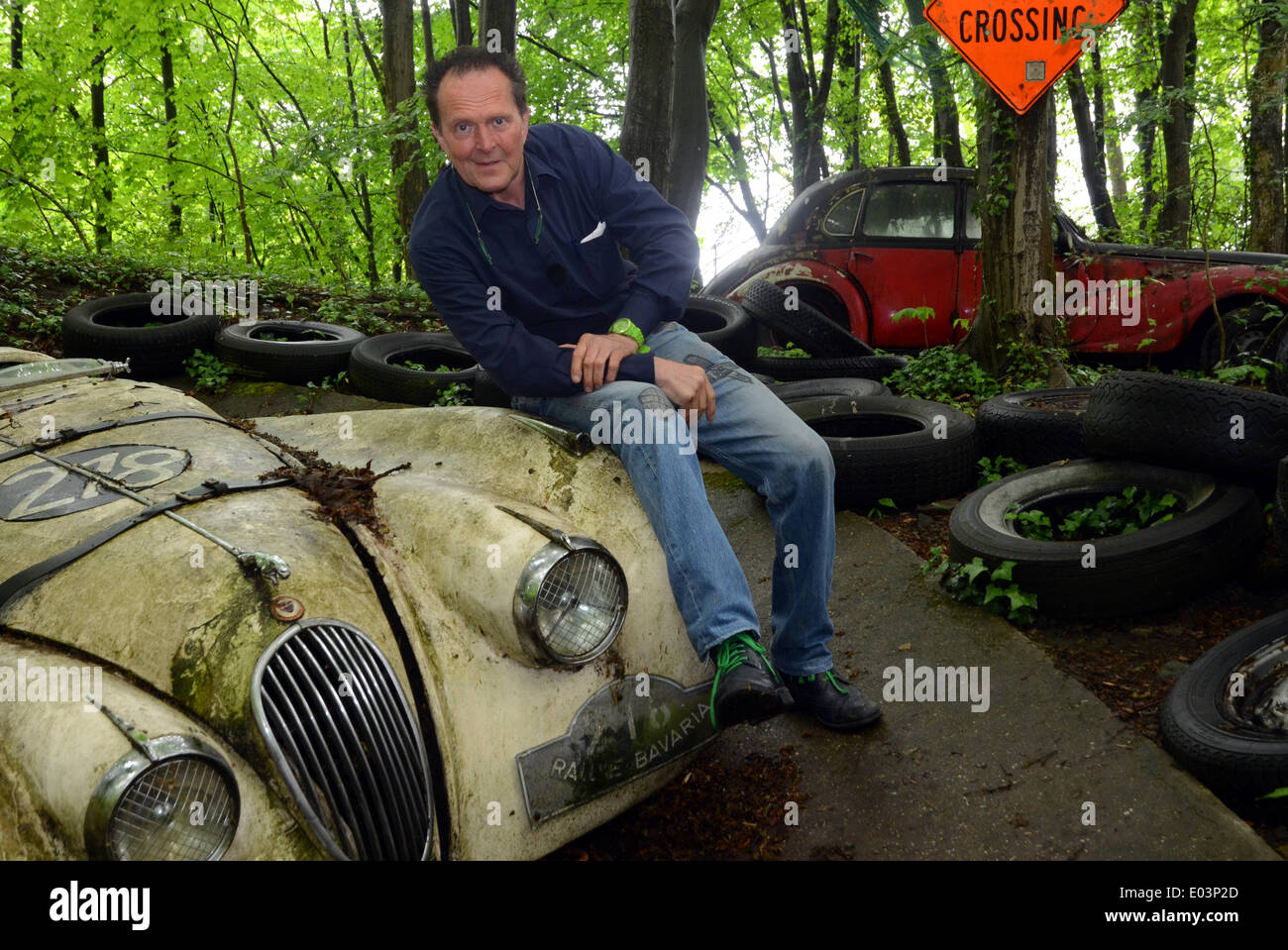 mettmann germany 27th apr 2014 classic car specialist michael stock photo royalty free. Black Bedroom Furniture Sets. Home Design Ideas