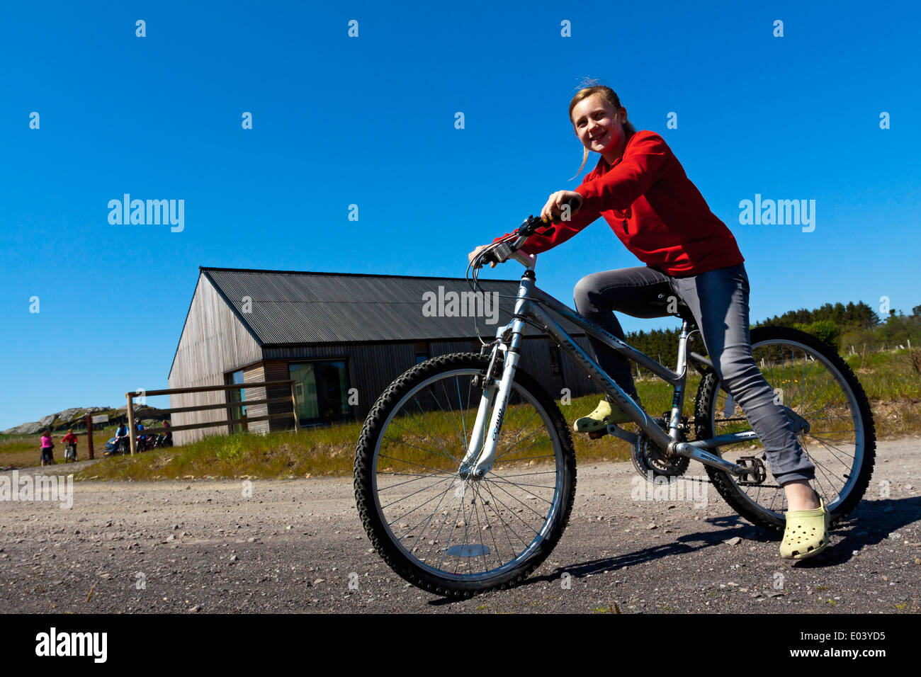 5 Year Old Mountain Biker Stock Photo Twelve year old