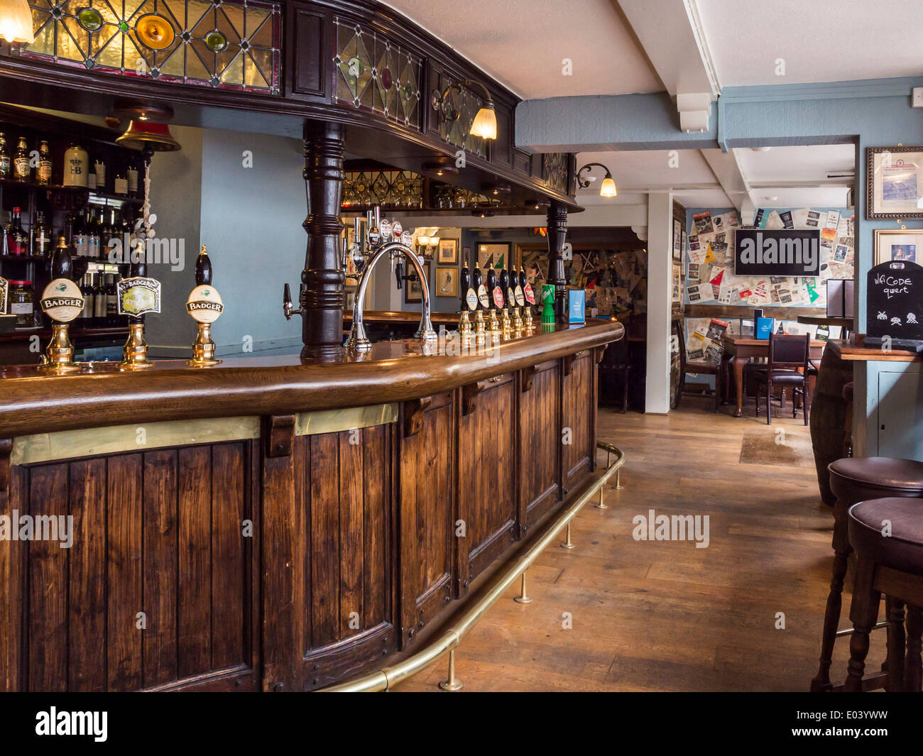 The Eel Pie Pub Interior With Wooden Bar Beer Pumps And