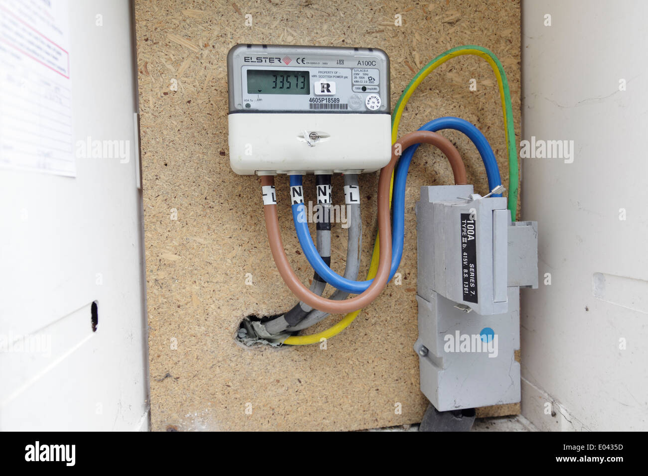 a domestic electricity meter housed in an external box scotland uk E0435D fuse box domestic stock photos & fuse box domestic stock images electric box fuses at eliteediting.co