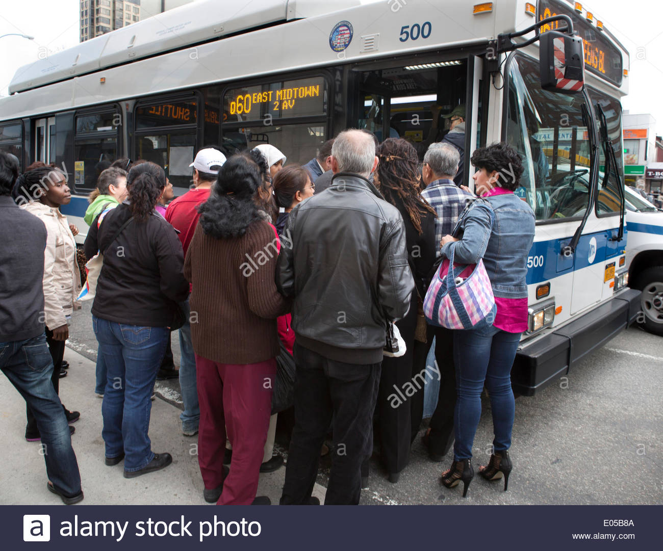 queens new york usa may 02 2014 afternoon rush hour after f stock photo 68960090 alamy. Black Bedroom Furniture Sets. Home Design Ideas