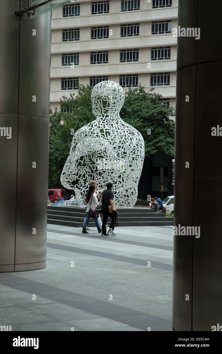 Singapore soul sculpture by catalan artist jaume plensa for Artiste peintre catalan