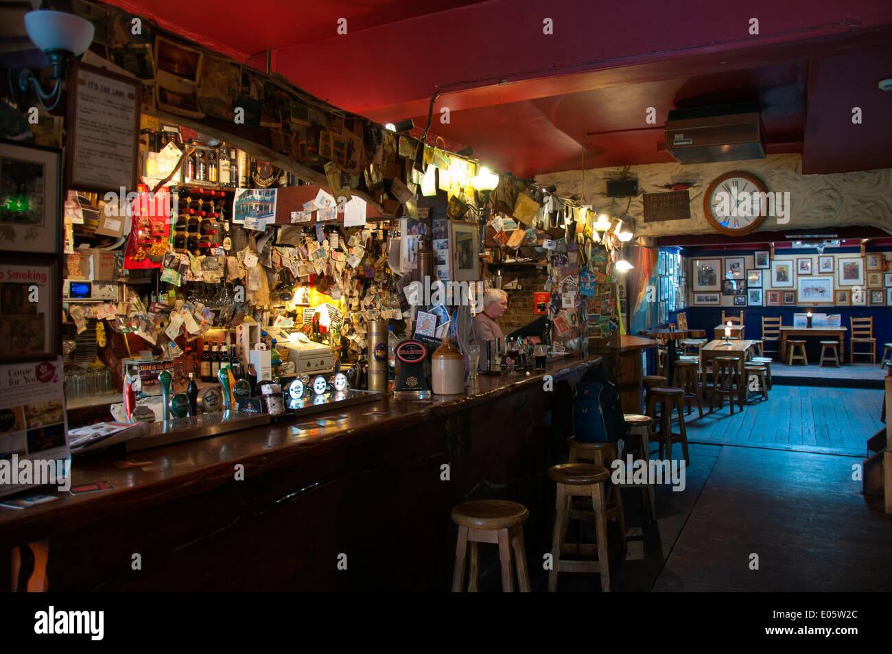 interior of corner house bar in coburg street cork city munster