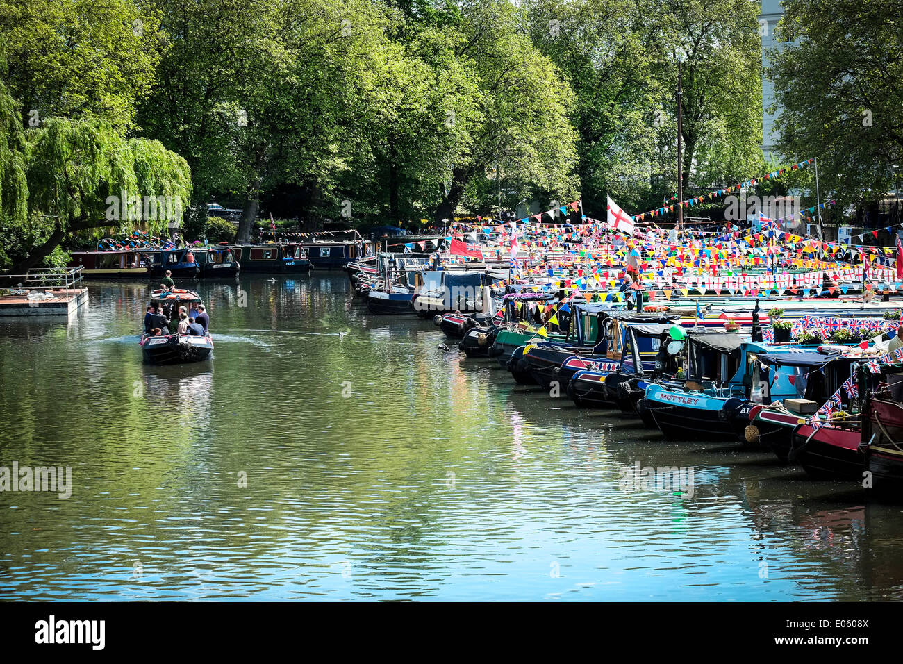 little venice london uk 3rd may 2014 the annual canalway stock photo royalty free image. Black Bedroom Furniture Sets. Home Design Ideas