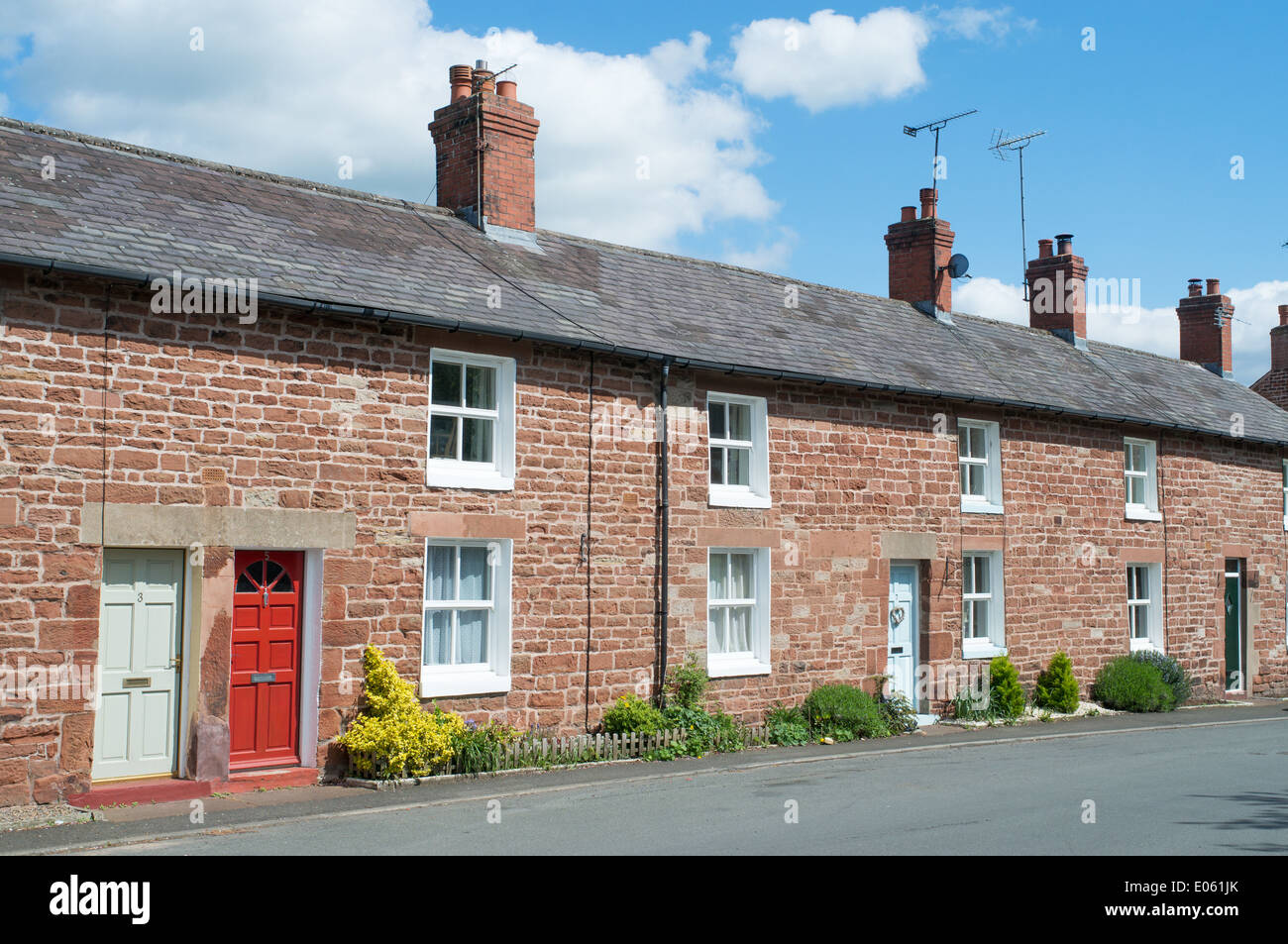 Prime Row Of Red Sandstone Terraced Houses In Brampton North West Largest Home Design Picture Inspirations Pitcheantrous