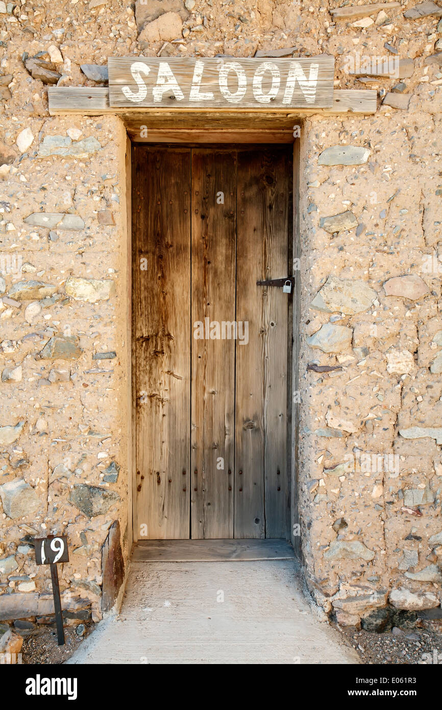 Entrance door to Murphy Saloon Shakespeare ghost town (late 1800s) Lordsburg New Mexico USA & Entrance door to Murphy Saloon Shakespeare ghost town (late 1800s ...