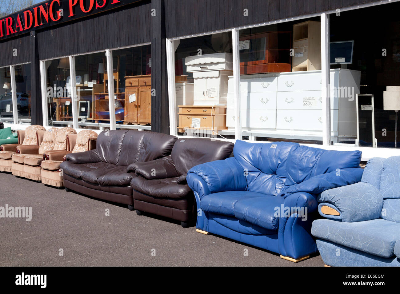 Secondhand Sofas For Sale Outside The Trading Post, Sowerby Bridge, West  Yorkshire