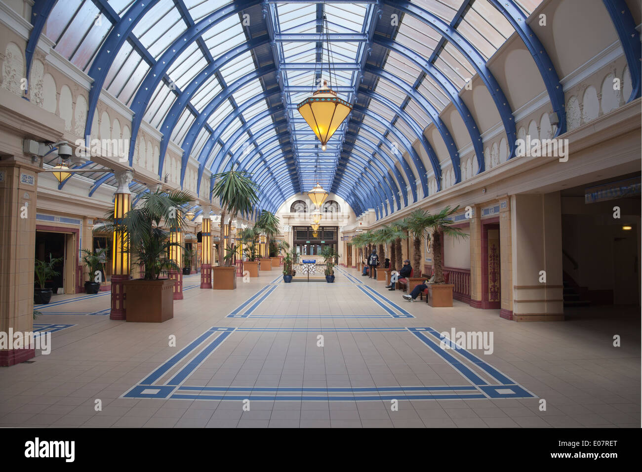 interior of winter gardens blackpool lancashire england uk stock